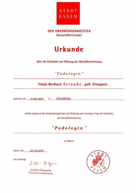 Urkunde rot